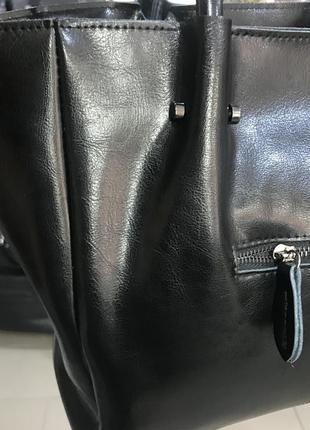 Кожаная сумка на плечо и в руку4