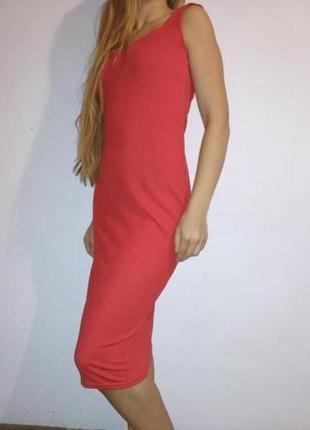 Плаття  червоне креп дайвинг (люрекс) .1