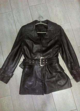 Кожанный пиджак1 фото
