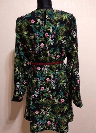 Стильное платье в цветочный принт label be!поясок в подарок!!!3 фото