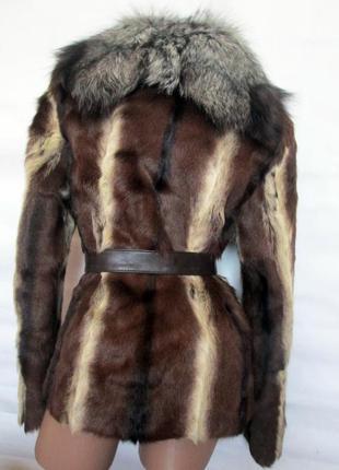 Шуба,шубка ,полушубок натуральный мех коза,козлик-чернобурка,лиса! 46-482 фото
