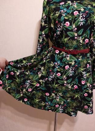 Стильное платье в цветочный принт label be!поясок в подарок!!!5 фото