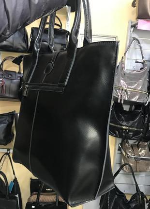 Удобная и аккуратная кожаная сумка2 фото