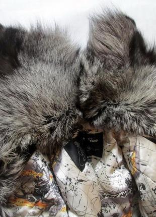 Шуба,шубка ,полушубок натуральный мех коза,козлик-чернобурка,лиса! 46-484 фото