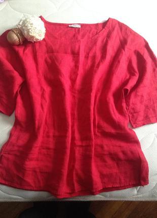 Кофта женская, блуза лен италия,туника льняная1