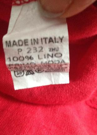 Кофта женская, блуза лен италия,туника льняная2