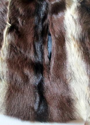 Шуба,шубка ,полушубок натуральный мех коза,козлик-чернобурка,лиса! 46-485 фото