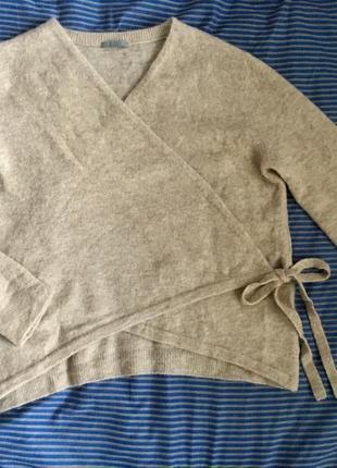 Объемный свитер /кардиган из альпаки на запах ,лимит.линия cos2