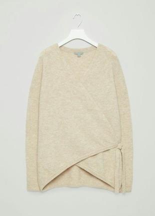 Объемный свитер /кардиган из альпаки на запах ,лимит.линия cos5