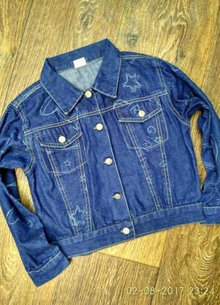 Джинсовый пиджак на 5л