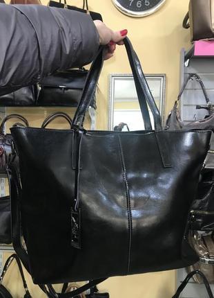 Большая кожаная сумка casual2