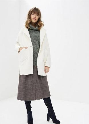 Стильное пальто молочный цвет2