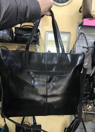Большая кожаная сумка casual4