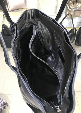 Большая кожаная сумка casual5