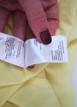 Яркое жёлтое платье от h&m4