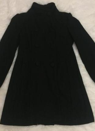Пальто женское чёрное1
