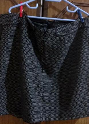 Юбка с вставками под кожу2 фото