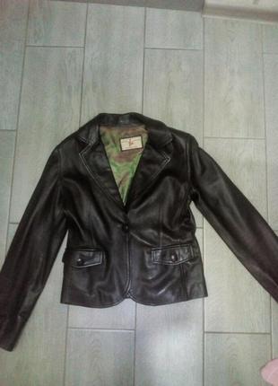Пиджак кожа1 фото