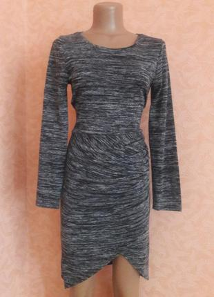 Асимметричное меланжевое платье1