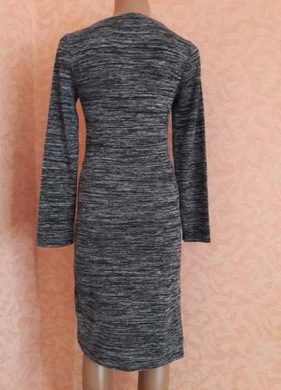 Асимметричное меланжевое платье3 фото