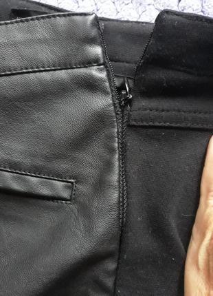 Легинсы кожаные4 фото