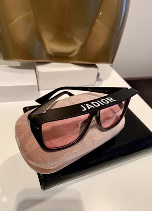Полупрозрачные очки с козырьком подиумная модель jadior1 фото