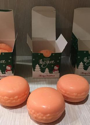 Ароматные макарунчики, натуральное подарочное мыло unice, 2х50 г1 фото