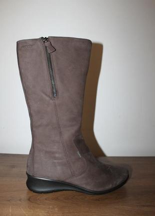 Кожаные сапоги с мембраной gore-tex ecco, 38 размер