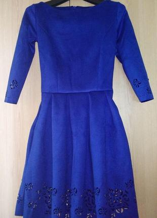 Расклешенное замшевое платье (42,44,46,48/5 цветов)5 фото