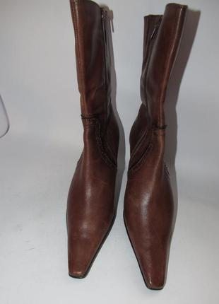 Tamaris германия кожа качественные стильные женские сапоги 37р ст.23,5см m292