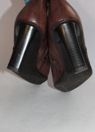 Tamaris германия кожа качественные стильные женские сапоги 37р ст.23,5см m293