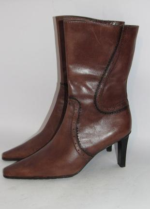 Tamaris германия кожа качественные стильные женские сапоги 37р ст.23,5см m291