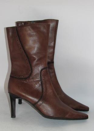 Tamaris германия кожа качественные стильные женские сапоги 37р ст.23,5см m294