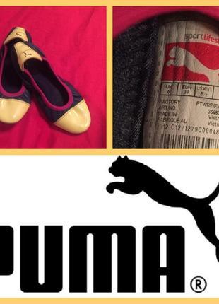 Стильные и красивые кожаные балетки puma2 фото