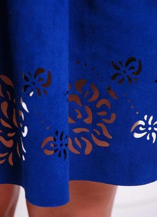 Расклешенное замшевое платье (42,44,46,48/5 цветов)4 фото