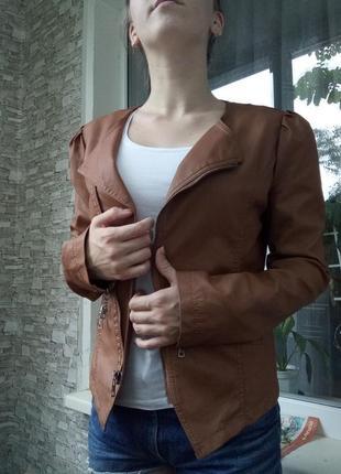 Куртка косуха кожанка кожаная2 фото
