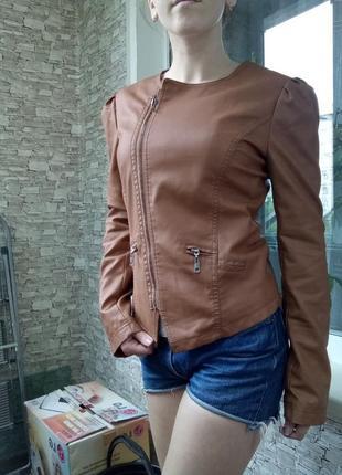 Куртка косуха кожанка кожаная3 фото