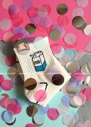 Крутые белые носки с молоком 35-39 рр2