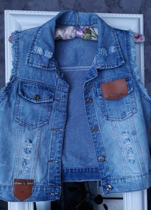Крутая джинсовая жилетка asos