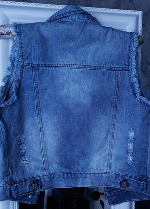 Крутая джинсовая жилетка asos2 фото
