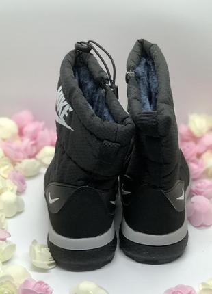 Черные дутики сапоги зима2