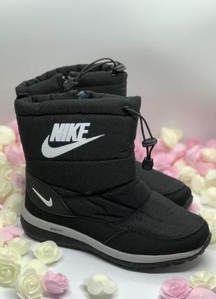 Черные дутики сапоги зима3