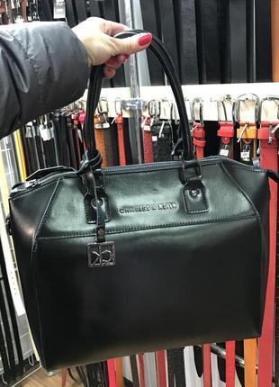 Каркасная кожаная сумка