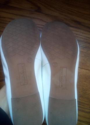 Кожаные балетки tom tailor2