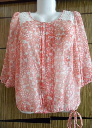 Блуза из иск.шелка, новая dorothy perkins, размер 16 – идет на 48-50.1
