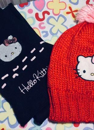 Набор шапка+шарф hello kitty