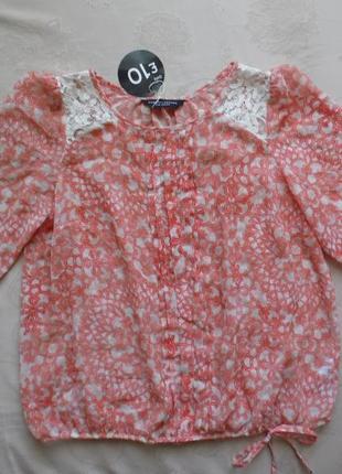 Блуза из иск.шелка, новая dorothy perkins, размер 16 – идет на 48-50.4