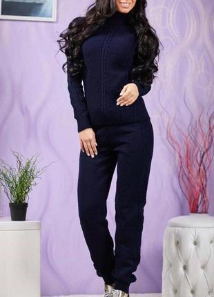 Вязаный шерстяной костюм 42-50р