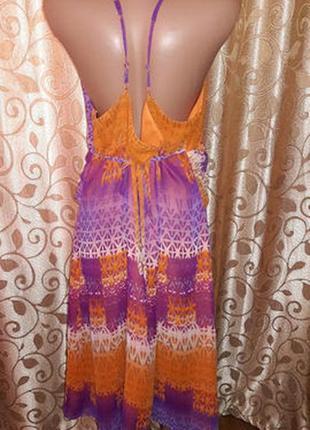 Красивое легкое женское платье, сарафан батального размера marks & spencer5