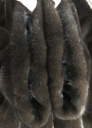 Норковая шуба braschi, 50-56, 84 см, горький шоколад, kopenhagen5 фото